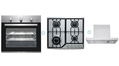 Gas Cooktop And Oven Packages euromaid bs7 7 multifunction oven with gas cooktop and integrated rangehood package cooking