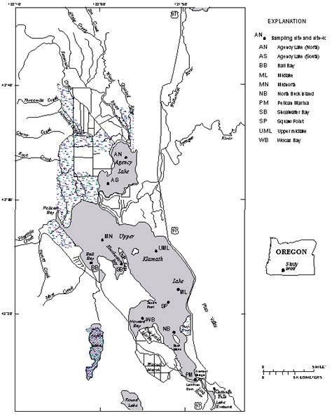 map of klamath oregon map of klamath lake oregon