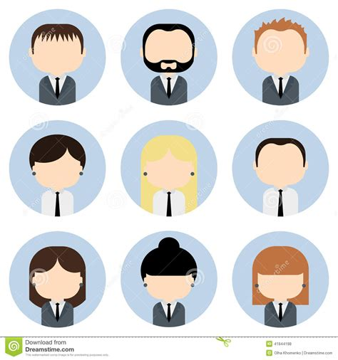Office Interior Designers set of colorful office people icons businessman