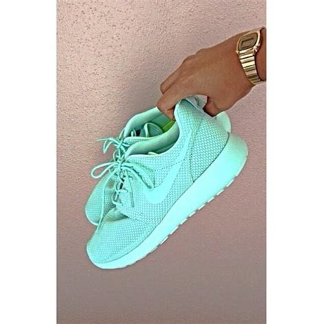mint green nike sneakers nike roshe run mint green