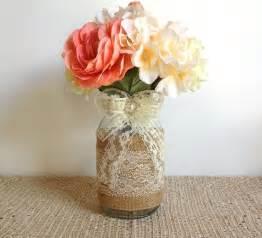 vasen hochzeitsdeko sackleinen und spitze dachte jar vasen