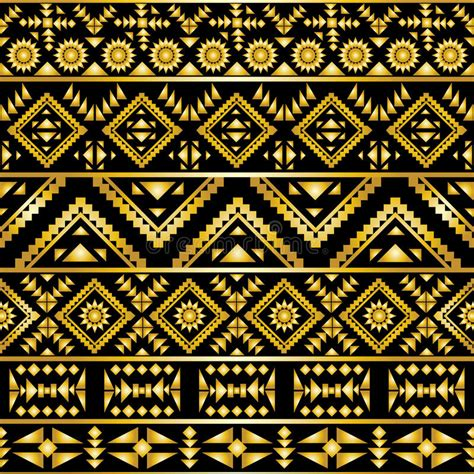 aztec pattern vector seamless aztec pattern art deco style stock vector image