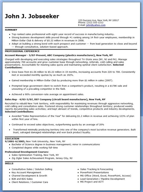 Resume Sles In Manufacturing Manufacturer Sales Representative Resume Resume Downloads