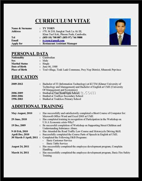 format of a cv for a highschool student exle of a resume resume template cover letter