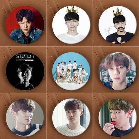 Kpop Bigbang Member Pin Badge Import aliexpress buy youpop kpop exo exo k exo m lay