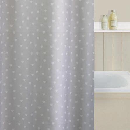 Polka Heart Shower Curtain Dunelm Bathroom Home Decor