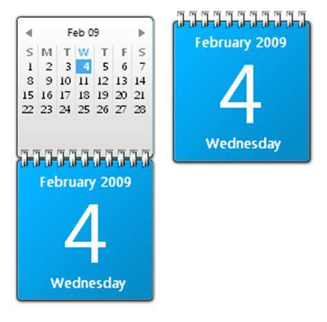 Calendar Desktop Gadget Top 5 Must Desktop Gadgets For Windows 7 Redmond Pie