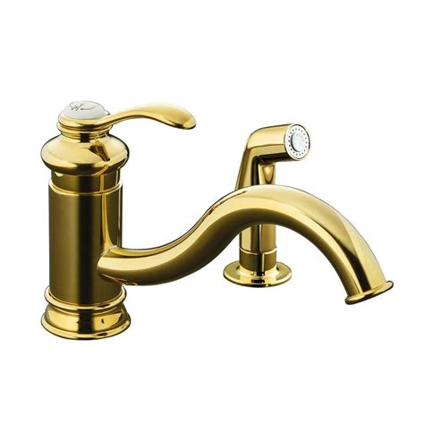 kohler fairfax kitchen faucet kohler fairfax single handle side spray kitchen faucet in