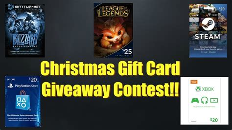 Steam Gift Card Christmas - christmas gift card give away blizzard league of legends