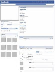 blank facebook profile template for word