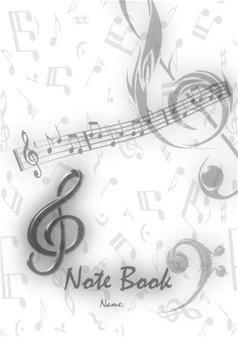 Musical Book Covers by Note Book Cover By Sj Hael92 On Deviantart
