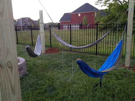 Hammock Post what sized posts would i need in my back yard for a 250lb person