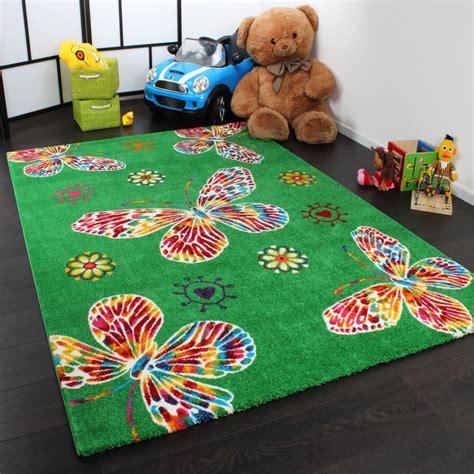 children s rugs rug butterfly design green multicoloured children s rugs