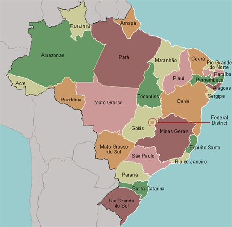 map of brazil with states test your geography knowledge brazil states lizard point