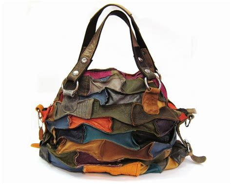 Leather Patchwork Bag - marlin leather patchwork bag purseonalities