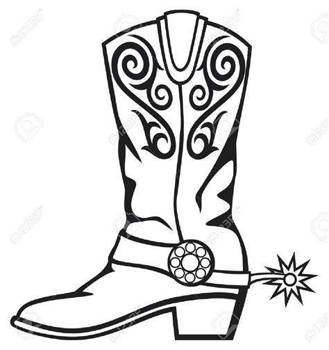 cowboy boot clipart footprint clipart cowboy boot pencil and in color
