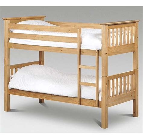 Pine Bunk Beds Uk Barcelona Solid Pine Bunk Bed Splits Into 2 Single Bedframes