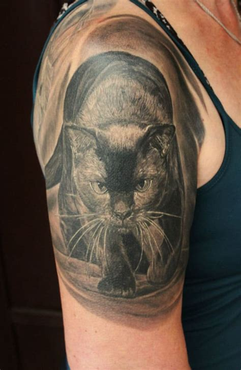 cat tattoo on guy s stomach best 24 cat tattoos design idea for men and women