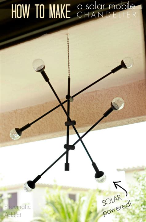 how do you make a chandelier pneumatic addict how to make a solar mobile chandelier