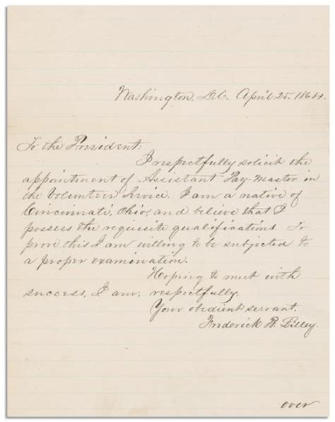 Endorsement Letter Of Items Lot Detail Abraham Lincoln War Dated Endorsement Signed On 6 May 1864 On The Back Of A