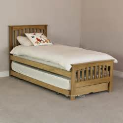 Guest Bed Oak 3ft Single Extendable Guest Bed