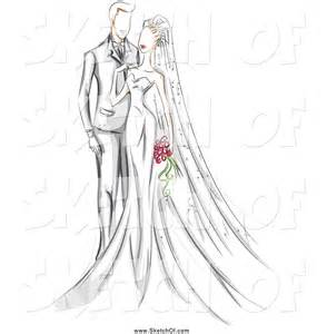 drawing of a sketched wedding couple by bnp design studio