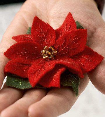pattern for felt poinsettia flower make a felted wool poinsettia pin for christmas