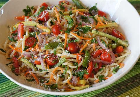 spaghetti noodles recipe vegetarian bright vegetable pasta recipe dishmaps