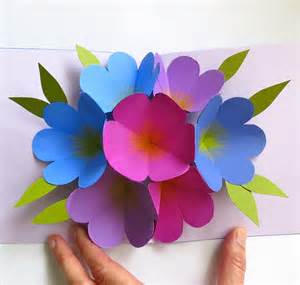 flower pop up card templates mmmcrafts made it ms pop up flower card