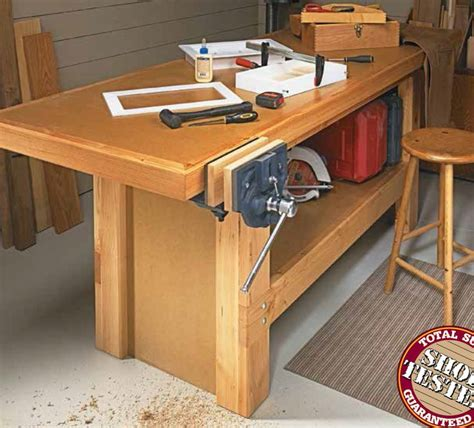 tool bench plans heavy duty workbench woodsmith shop tools jigs