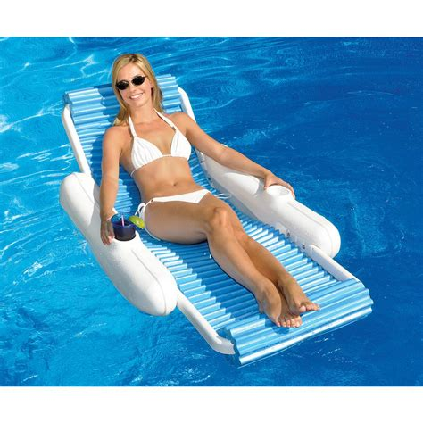 Floating Lounge Chair For Pool by Swimline Sunchaser Swimming Pool Floating Lounge Chair