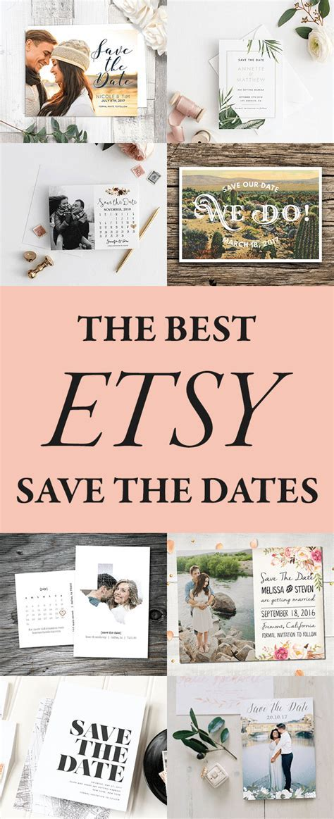 The Best Etsy Save the Dates to Announce Your Wedding