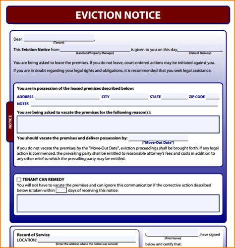 free notice forms 4 free printable eviction notice teknoswitch
