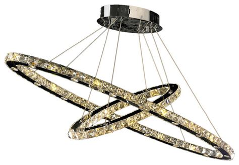 Orbit Chandelier With Crystals by Galaxy 48 Light Led Orbit Chandelier