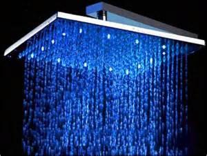 brausekopf dusche led brausedusche duschbrause regendusche eckig mass