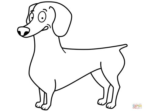 dachshund puppies coloring pages funny dachshund coloring page free printable coloring pages