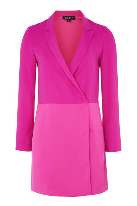 Panel Blazer contrast panel blazer dress topshop