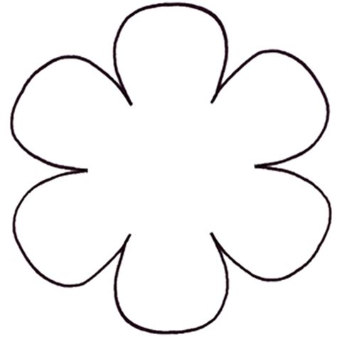 free flower templates to print 6 petal flower diagram flower leaf template printable
