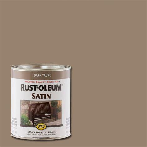 home depot rustoleum spray paint colors rust oleum stops rust 1 qt taupe satin protective