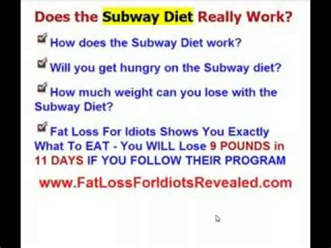 How Much Weight Can You Lose On A Detox Diet by Subway Diet How Much Weight Can You Really Lose