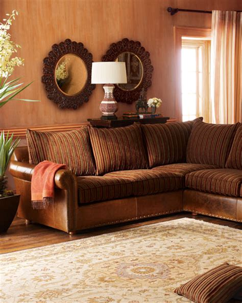 striped sectional sofa old hickory tannery striped sectional sofa