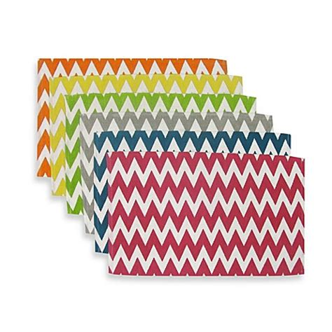 bed bath and beyond placemats sentra 100 cotton chevron placemats set of 6 bed bath
