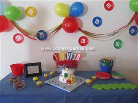 themed party m coolest m m candy 2nd birthday party