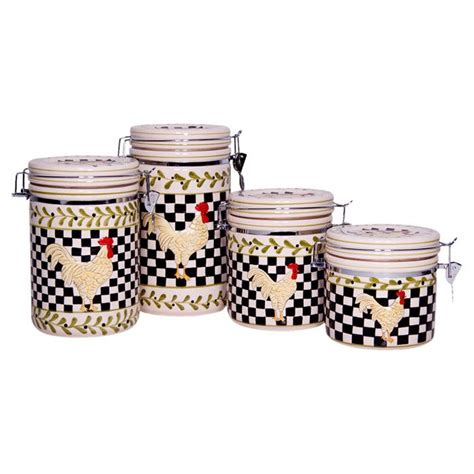 canisters amusing country kitchen canister sets ceramic
