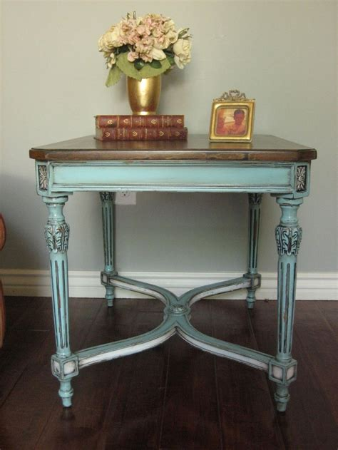 shabby chic furniture paint colors painted furniture table blue european paint finishes