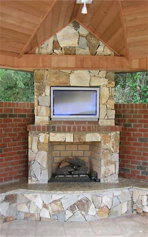 outdoor fireplace gas logs outdoor tv cabana