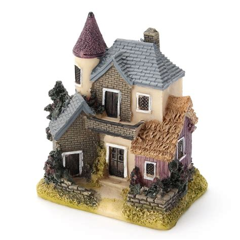 miniature homes models resin house miniature house fairy garden micro landscape