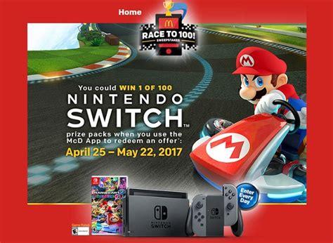 Mcdonalds Nintendo Switch Sweepstakes - take festival survey for amazing discounts sweepstakesbible