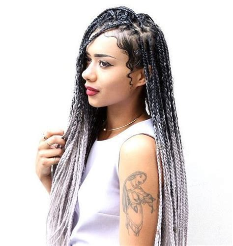 braid ombre technique 50 exquisite box braids hairstyles to do yourself ombre