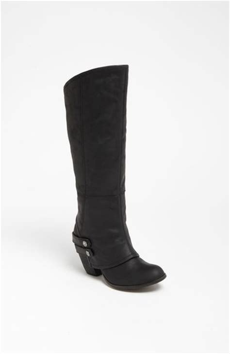 fergie boots fergie boot in black black leather lyst